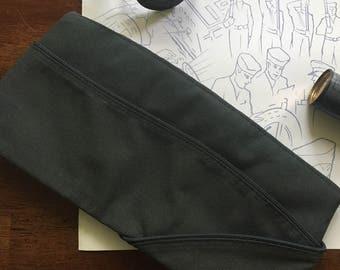 Vintage Garrison Cap military cap AG344 size L poly/wool