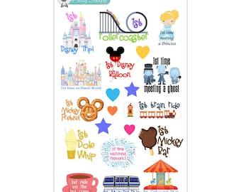 1st Disney Trip Milestones Stickers - Disney Planner Stickers