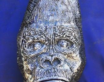 Handmade steel silverback gorilla mask