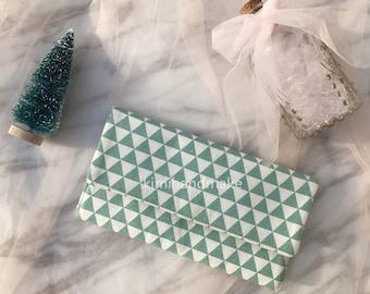 Green Geometric Clutch - Wedding Clutch, Bridal Clutch, Bridesmaid gift, Wedding Accessory, kLJ1-1.