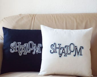 Shalom Embroidered Pillowcase