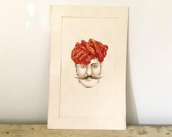 Old portrait of maharaja.