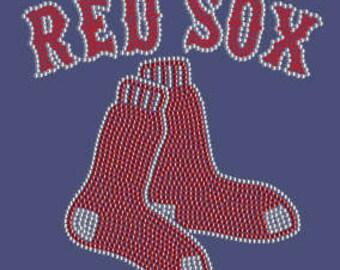 Boston Red Sox Rhinestone T-Shirt
