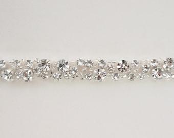 Diamanté Bridal Belt Or Sash - Made To Measure - DELPHINE