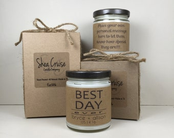 Best Day Ever// 9 oz Soy Candle // Love Quote Gifts // Add Personalized Message // Gift