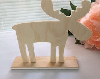 Moose, Cutout, Standing Plywood Cutout, DIY,Christmas, Home Decor, Wedding Decor, Cake Topper