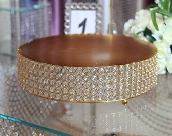 Round Crystal Cake Stand