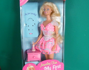 My First Barbie Jewelry Fun Doll Blonde Hair