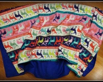 Sale! Holiday Reindeer Receiving Blanket
