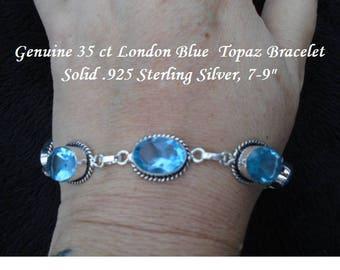 35 ct London Blue Topaz Bracelet