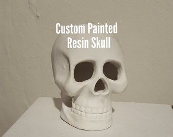 CUSTOM Hand Painted Skull Calavera Calaca