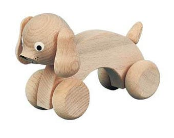 HARRY -Wooden Push Along Dog