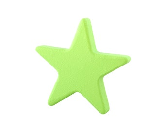 Kids drawer knobs, Decorative door knobs, Wood drawer pulls, Green kids knobs, Green star decorations, Baby nursery decorations, Star pulls