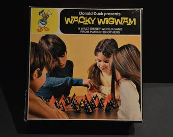 Vintage 1972 Disney Game Donald Duck WACKY WIGWAM From Parker Brothers No. 883