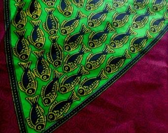 Panel Cut, Java - Cotton fabric - FISH
