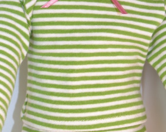 Green Striped Pajamas for Your 18 inch Doll