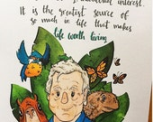King of the natural world David Attenborough quote print