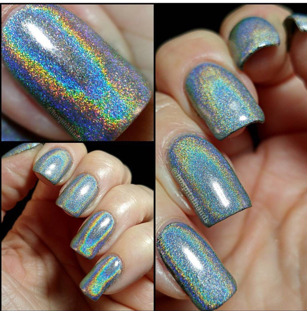 How Does Powder Nail Polish Work: 50 Micron Holographic Unicorn Powder Ultra Fine For