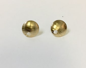 Small Round earring post. 18/20 Goldfilled earring.
