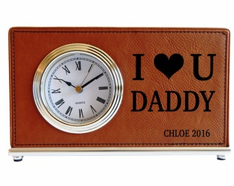 Personalized Dad Clock, Father's Day Gift, Gift for Dad, Christmas Gift for Dad, Husband Gift, Custom Dad Gift, Gifts for Fathers LCD050