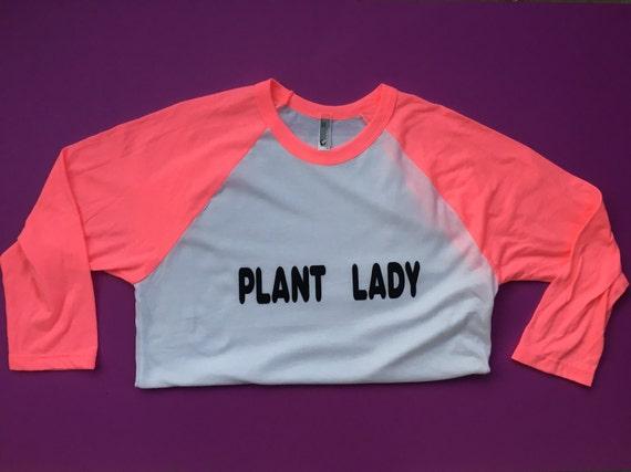PLANT LADY RAGLAN // neon pink