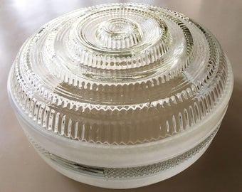 Vintage Ceiling Light Fixture Ceiling Light Cover Ceiling Light Shade Glass Globe Light Glass Shade Large Shade Mid Century Lighting Vintage