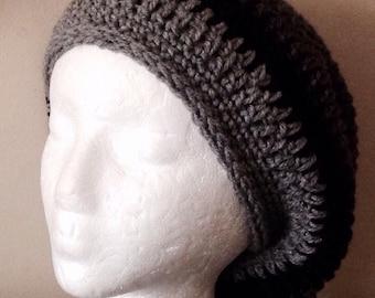Crochet Tam, Slouchy, Hat, Rasta Hat