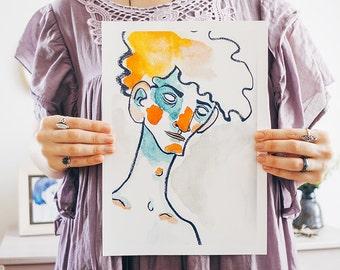 Angular art print A4