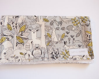 Grey Woodlands Burp Cloth