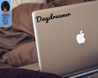 Set of 2 decals - Daydreamer Macbook / Laptop Vinyl Decal