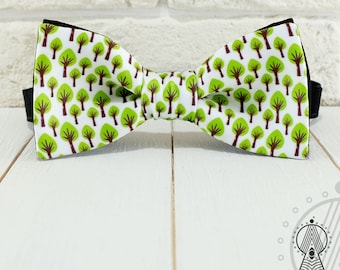 Natural Bow Tie, Bowtie Trees, eco bow tie, green bow tie, Men's bow tie, Women's bow tie, Children's bow tie