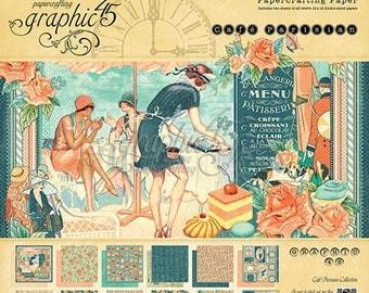 "Free shipping Graphic 45 ""Cafe Parisian"" 12 x 12 Pad"