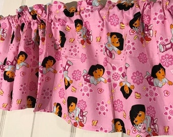 pink dora the explorer girls room Curtain Valance