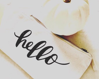 Gorgeous Cosmetic Makeup bag - hello - pretty pouch