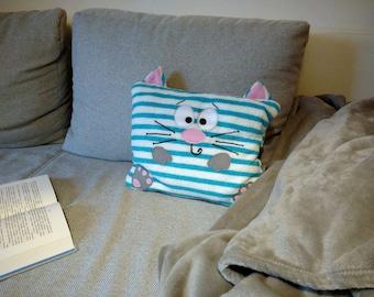 Cuddly cat pillow, cute pillow, pillow baby, pillow children, plushie cat, throw pillow