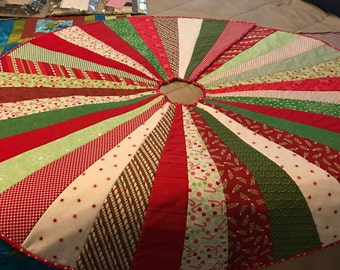 Christmas Tree Skirt - Homemade - Reversible - free shipping