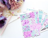 Key -- Vertical Weekly Kit-- Matte Planner Stickers
