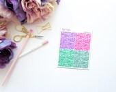 Blossom -- Faux Glitter Headers -- Matte Planner Stickers