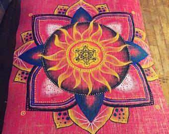 CUSTOM Handpainted Mandala Mat - Eco Friendly Jute Fiber Yoga mat