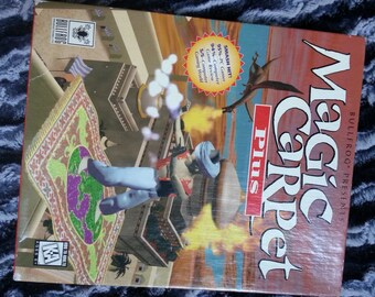 EA Games—Magic Carpet Plus—1995 CD-Rom—Complete in box—Electronic Arts—Bullfrog—Computer Game—  VINTAGE