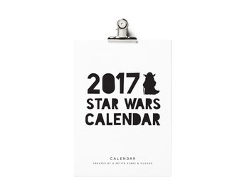 2017 Printable Calendar, 2017 Batman Calendar, Batman Calendar, Monthly Wall Calendar 2017, Star Wars, Darth Vader Calendar, Yoda Calendar