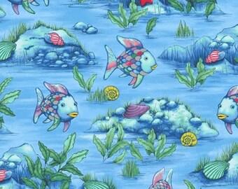 Rainbow fish quilt etsy for Rainbow fish fabric