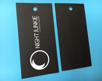 500 Custom hang tags, Custom swing ticket, Swing ticket, Hang cards,
