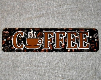 Metal Sign COFFEE shop beans bar iced cafe latte espresso cappuccino mocha lover barista kitchen wall plaque