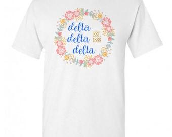 Delta Delta Delta Maicy Floral Tees