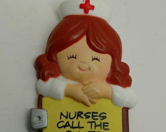 Vintage Nurse Pin-signed made in Macao