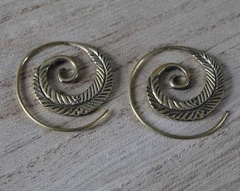 Pair of little pair of spiral earrings
