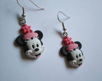 """Boucles d'oreilles Disney en métal argenté """"Minnie"""" - cadeau fille, cadeau enfant, cadeau femme"""