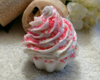 Pink Sugar Soap~Frosted Cupcake Soap~Pink Sugar Cupcake Soap~Frosting Soap~Decorative Soap~Party Favor Soap~Gift Basket Soap~