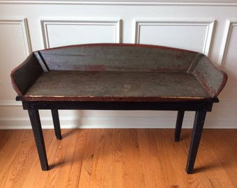 Antique Buggy Seat Bench / Table